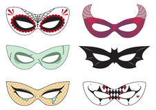 Máscaras de Halloween libre illustration