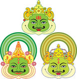 Máscaras de Kathakali Foto de archivo libre de regalías