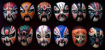 Máscaras de la ópera de Pekín Imágenes de archivo libres de regalías