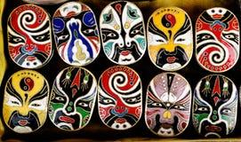 Máscaras de la ópera de Pekín Imagen de archivo libre de regalías
