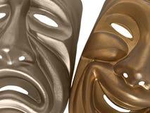 Máscaras de la comedia y de la tragedia Imagenes de archivo