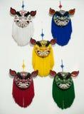Máscaras de la danza de león Imagenes de archivo