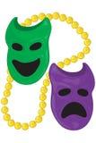 Máscaras de la dicotomía Imágenes de archivo libres de regalías