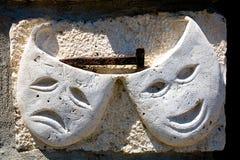 Máscaras de la piedra Fotos de archivo libres de regalías