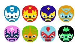 Máscaras de los luchadores Fotos de archivo libres de regalías