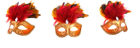 Máscaras de lujo brillantes Fotografía de archivo libre de regalías