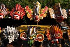 Máscaras de madeira em Sri Lanka Fotos de Stock