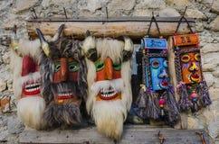Máscaras de madeira tradicionais Fotos de Stock Royalty Free