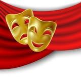 Máscaras de teatro Imagen de archivo libre de regalías