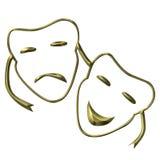Máscaras de teatro stock de ilustración