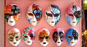 Máscaras de Venecia Imágenes de archivo libres de regalías