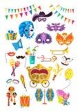 Máscaras decorativas hermosas stock de ilustración