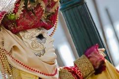 Máscaras del carnaval en perfil Imágenes de archivo libres de regalías