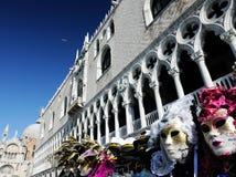 Máscaras del carnaval en Venecia imagenes de archivo