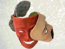 Máscaras del cartón piedra fotografía de archivo