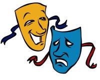 Máscaras del drama Foto de archivo libre de regalías