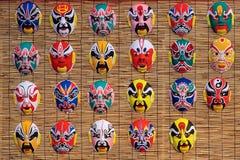 Máscaras del Facial de la ópera de Pekín foto de archivo libre de regalías