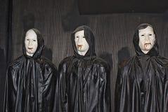 Máscaras del horror Fotos de archivo libres de regalías
