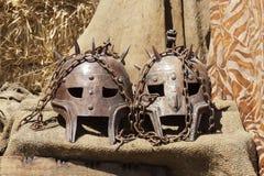 Máscaras del metal Fotos de archivo libres de regalías