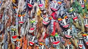 máscaras del multicolor Fotografía de archivo libre de regalías