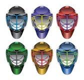 Máscaras del portero del hockey sobre hielo Fotografía de archivo libre de regalías