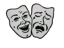 Máscaras del teatro Fotografía de archivo libre de regalías