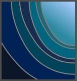 Máscaras do azul ilustração stock