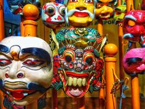 Máscaras do Balinese Fotografia de Stock Royalty Free