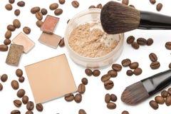 Máscaras do bege dos cosméticos Imagem de Stock Royalty Free