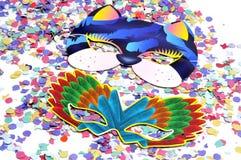 Máscaras do carnaval imagens de stock