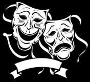 Máscaras 2 do drama ilustração do vetor