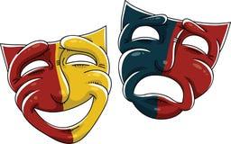 Máscaras do drama Imagem de Stock Royalty Free