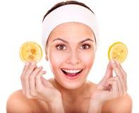 Máscaras do facial da fruta. imagem de stock