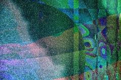 Máscaras do fundo azul do brilho com cores ilustração stock