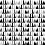 Máscaras do fundo cinzento, preto e branco dos triângulos que aponta para cima Teste padrão sem emenda Vetor EPS 10 Fotografia de Stock