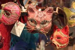 Máscaras do gato no carnaval em Veneza Fotografia de Stock Royalty Free