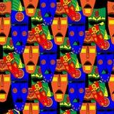 Máscaras do Inca Teste padrão sem emenda do fundo Ilustração do vetor Fotografia de Stock
