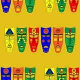 Máscaras do Inca Teste padrão sem emenda do fundo Ilustração do vetor Foto de Stock Royalty Free