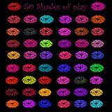 50 máscaras do jogo fotografia de stock royalty free