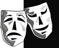 Máscaras do teatro Fotos de Stock Royalty Free
