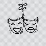 Máscaras, drama y comedia del teatro libre illustration