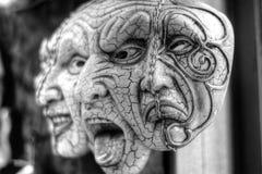 Máscaras e pesadelo do medo ilustração royalty free