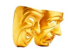 Máscaras - el concepto del teatro Imagenes de archivo