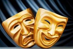 Máscaras - el concepto del teatro Fotografía de archivo