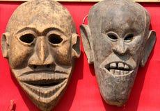 Máscaras en venta Imagen de archivo libre de regalías