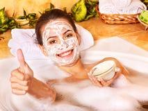Máscaras faciais caseiros naturais. fotos de stock