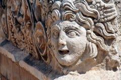 Máscaras gregas cinzeladas Fotos de Stock Royalty Free