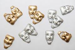 Máscaras gregas do drama Foto de Stock Royalty Free