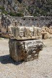 Máscaras griegas talladas Imagen de archivo