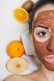 Máscaras hechas en casa naturales del facial de la fruta Foto de archivo libre de regalías
